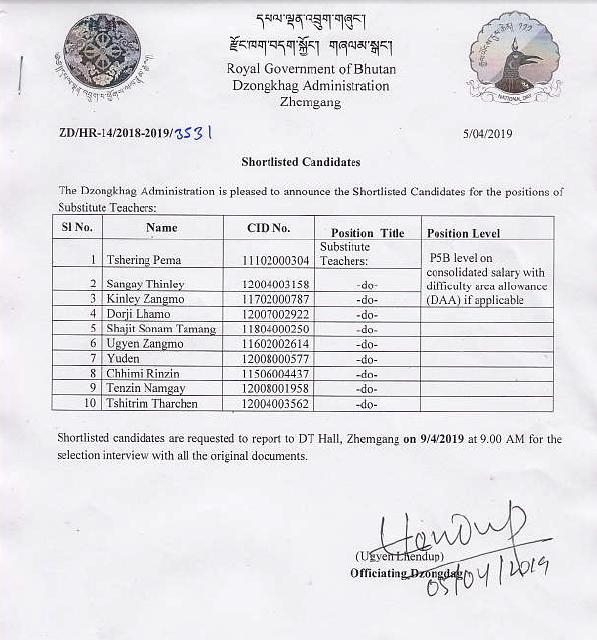 Careers | Royal Government of Bhutan